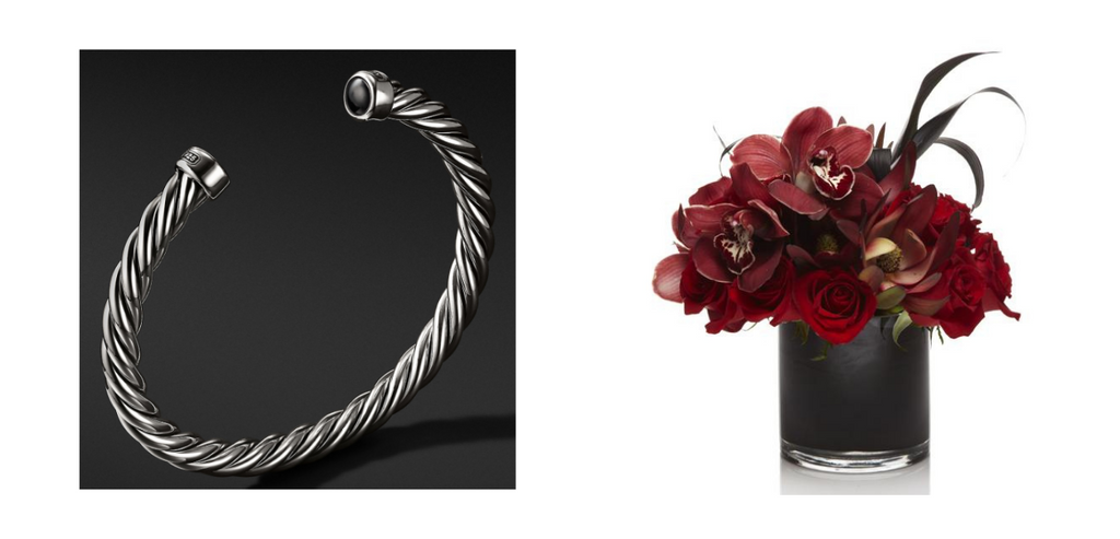 David Yurman Bracelet & Red Panther arrnagement