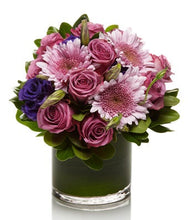 Load image into Gallery viewer, A Fresh Mix of Purple and Lavender Roses and Mums  - H.Bloom