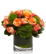 Load image into Gallery viewer, A cute arrangement of Coral and Peach Roses- H.Bloom