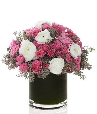 Pink Spray Roses and Luxury White Seasonal Blooms- H.Bloom