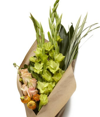Fun Peach, White and Green Floral Bundle - H.Bloom