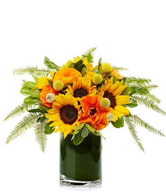 A Beautiful Arrangement of Yellow Sunflowers and Yellow Seasonal Blooms  - H.Bloom