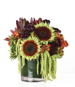 Sunflowers with Additional Premium Fall Blooms