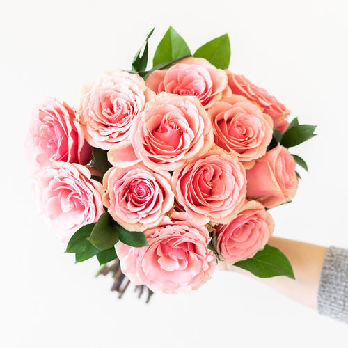 Premium Blush Rose Bouquet - H.Bloom