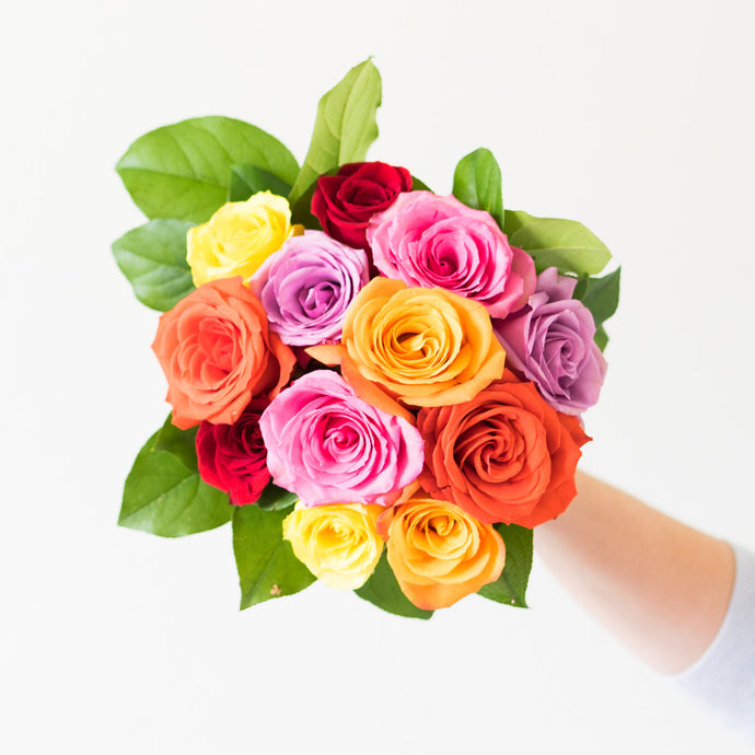 Colors of Rainbow Rose Bouquet