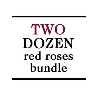 Bundle - 2 Dozen Red Roses - H.Bloom