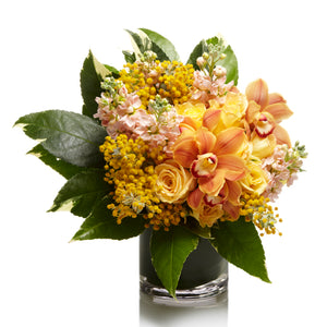 An Elegant Arrangement of Yellow Roses and Seasonal Fillers - H.Bloom