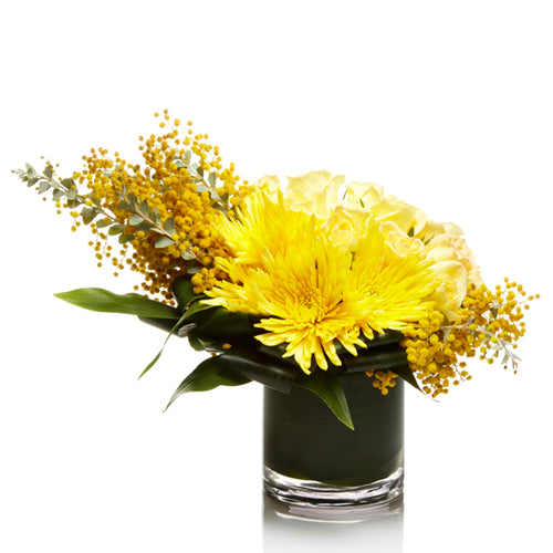 Warm Yellow Chrysanthemum and Fillers- H.Bloom