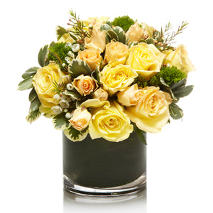 Elegant all Yellow Floral Arrangement - H.Bloom