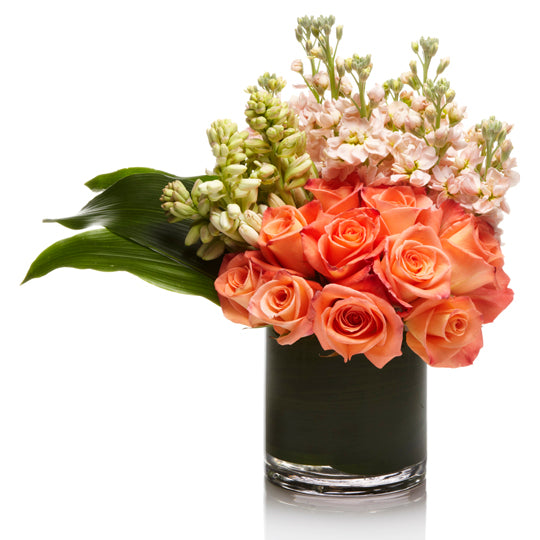 Luxury Peach and Pink Floral Arrangement  - H.Bloom