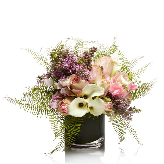 A Lush Garden Style Arrangement of Blush Blooms - H.Bloom