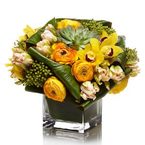 Modern Luxe Yellow Arrangement - H.Bloom