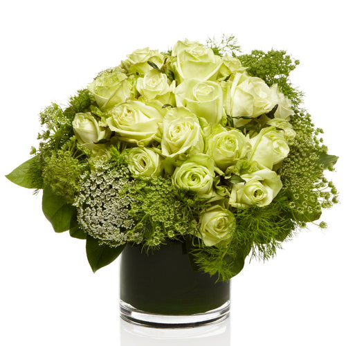 An All Green Luxe Arrangement - H.Bloom