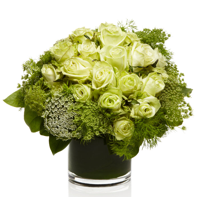 An Premium All Green Luxe Arrangement - H.Bloom