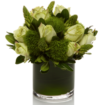 Premium Lush all Green Arrangement - H.Bloom