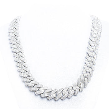 Prong Set Cuban Chain