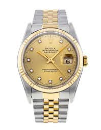 Plain rolex watch silver and yellow gold colour