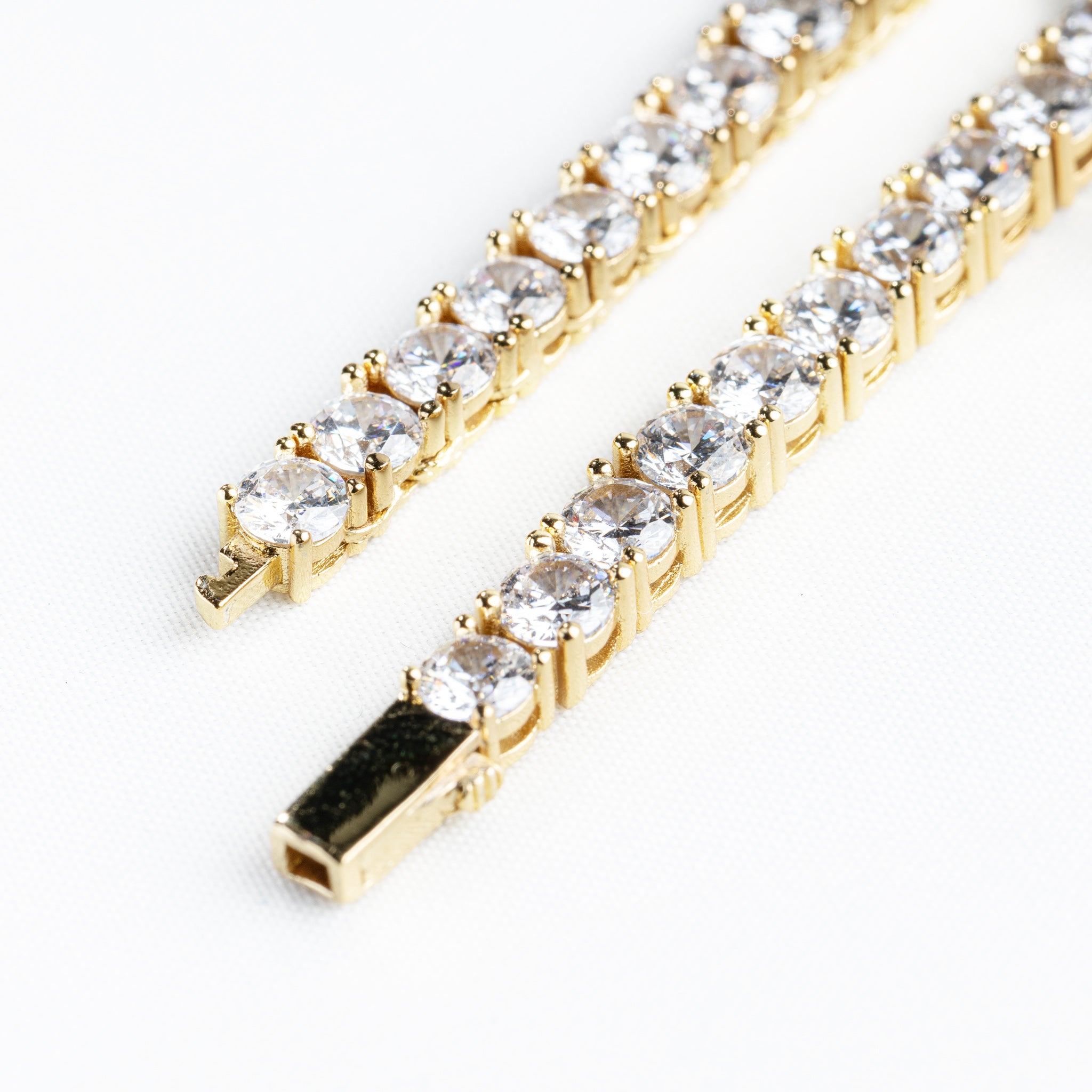 4mm 18K Gold Plated Tennis Chain