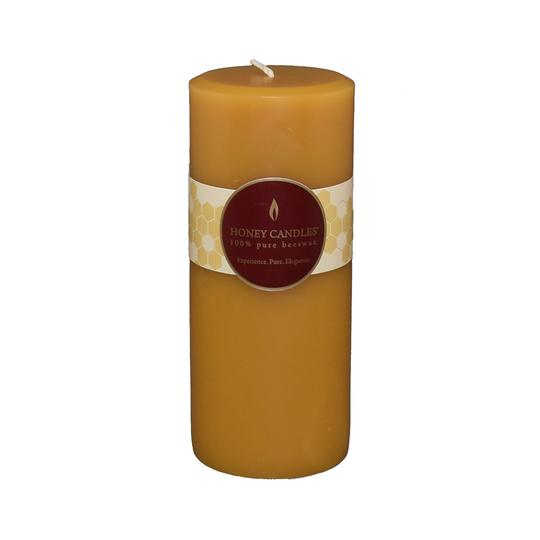 100% Pure beeswax Classic Round Pillars (Honey Candle)