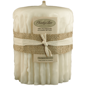 Beeswax  Candles (Cheeky Bee)-Ivory Colour