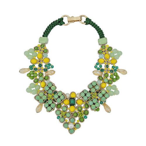 Wholesale Bead Embroidery Statement Handmade Necklace Jewellery Custom Bijoux