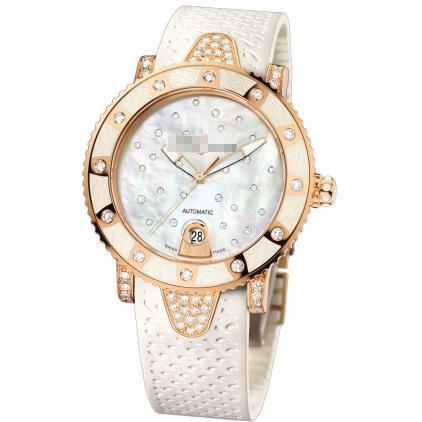 Custom Made Expensive Fashion Ladies 18k Rose Gold Automatic Watches 8106-101ec-3c/20