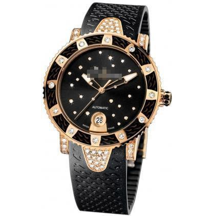Custom Made Fashion Expensive Ladies 18k Rose Gold Automatic Watches 8106-101ec-3c/22