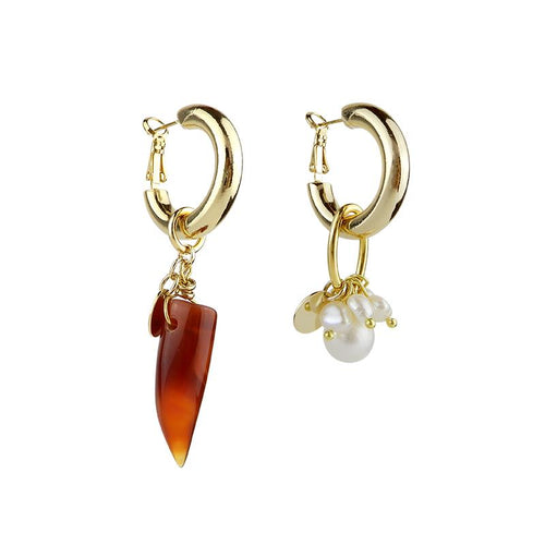 Wholesale Statement Mismatched Pearl Earrings
