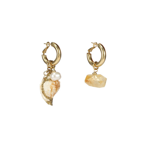 Wholesale Sea Snail Mismatched Earrings