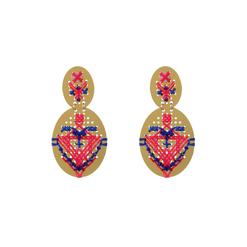 Wholesale Pendant Handmade Earrings With Bead Embroidery Custom Bijoux