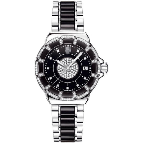 Customised Fashion Luxurious Ladies Stainless Steel Quartz Watches WAH1219.BA0859