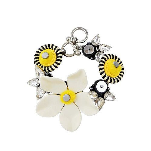 Wholesale Handmade Plexiglass Flower Statement Bracelet Custom Bijoux