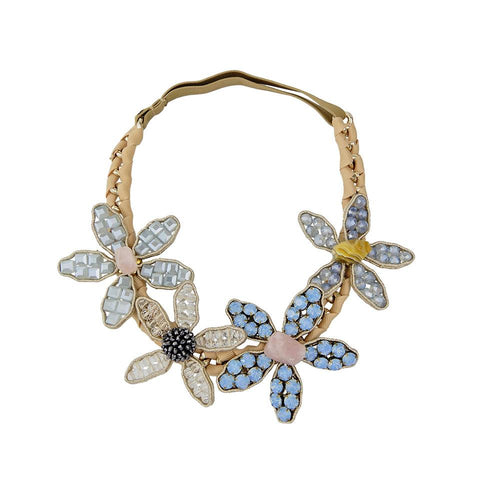 Wholesale Luxury Alpine Plants Gem Stones Tiara Crown Handcrafted Headband Custom Bijoux
