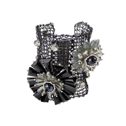 Wholesale Punk Metal Handmade Flower Bracelet Gothic Jewelry Custom Bijoux