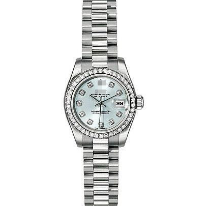 Custom Wholesale Automatic Ladies Platinum Watches 179136