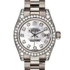 Customized Top Famous Ladies 18k White Gold with Diamonds Automatic Watches 179159