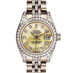 Customized Unique Famous Ladies 18k White Gold with Diamonds Automatic Watches 179159