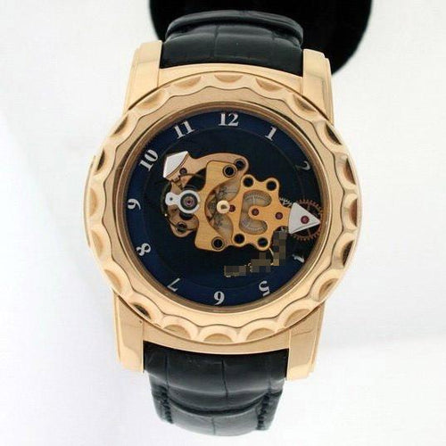 Custom Made International Luxurious Men's 18k Yellow Gold Manual Wind Watches 016-88