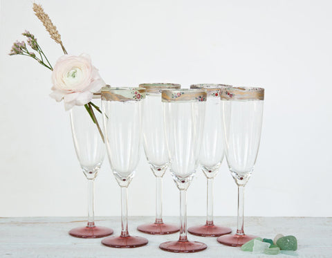 6 charmerende champagneglas