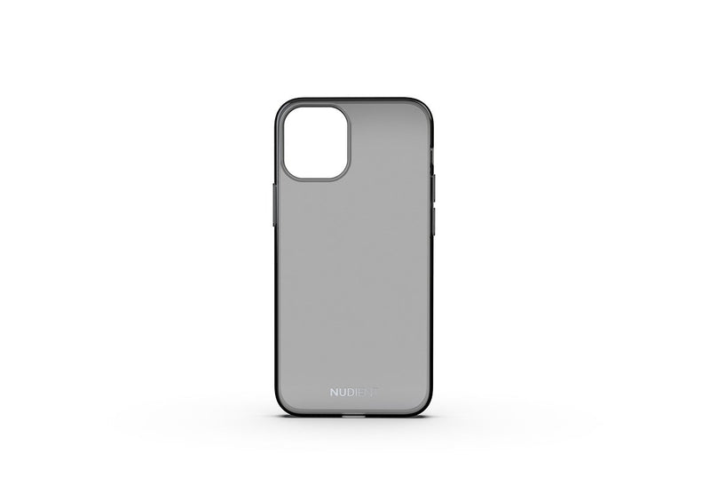 Nudient - Coque Fine et transparente pour iPhone 12 Mini - Black transparent