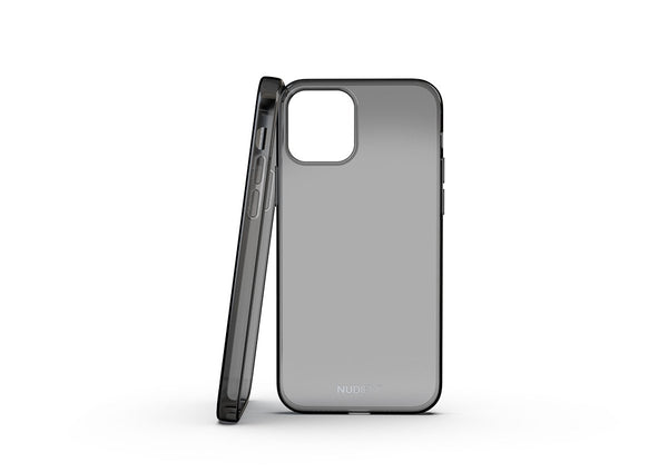 Nudient - Coque Fine et transparente pour iPhone 12 - Black transparent
