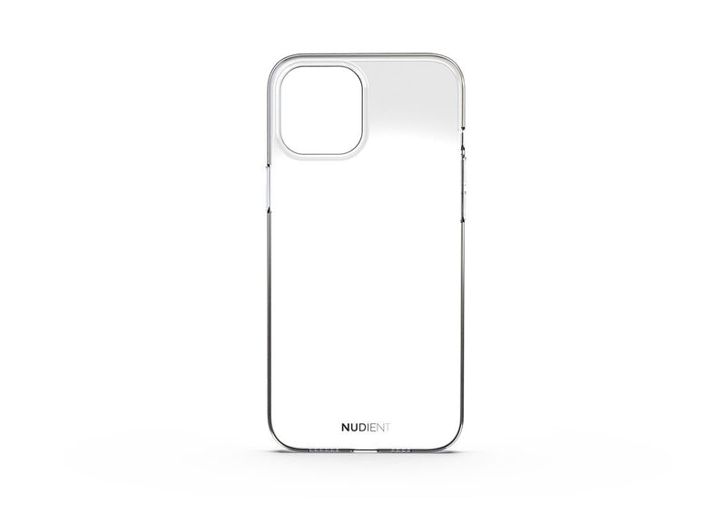 Nudient - Coque Fine et transparente pour iPhone 12 Pro Max - 100% transparent