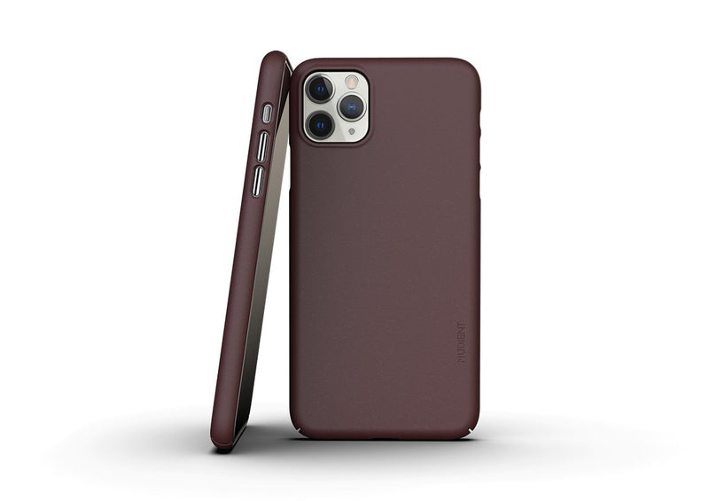 Nudient - Coque Fine Pour iPhone 11 Pro Max  V3 - Sangria Red