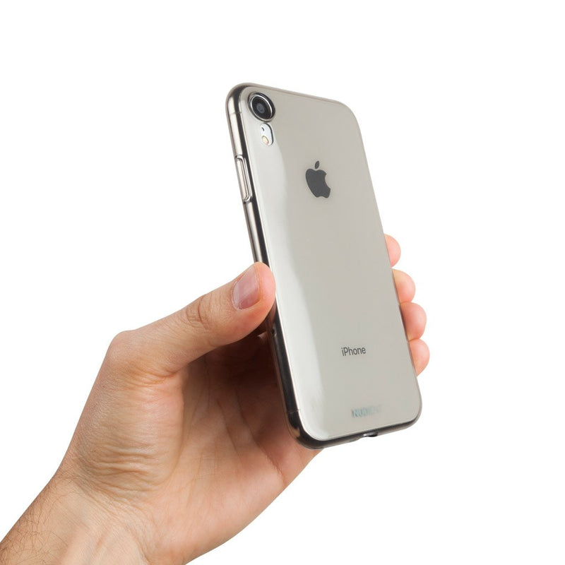 Une coque fine et transparente pour iPhone XR 6,1  - Black transparent