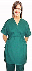 A+ Microfiber New style maternity top v neck 2 pocket half sleeve with side tieable - A Plus Medical Scrubs