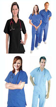 Load image into Gallery viewer, A+ Microfiber fabric queensland scrub sets select your set - A Plus Medical Scrubs