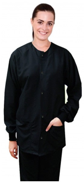 A+ Microfiber jacket 2 pocket full sleeve solid unisex with rib - A Plus Medical Scrubs