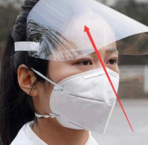 Transparent Face Shields (will ship within 24 hours) - A Plus Medical Scrubs