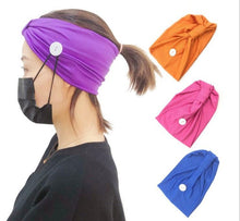 Load image into Gallery viewer, Headbands with Buttons for face mask (Will ship with in 24 hours) - A Plus Medical Scrubs