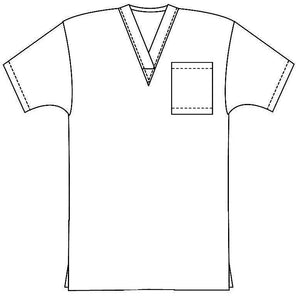 Scrub set 4 pocket unisex solid half sleeve (1 pocket top, 3 pocket pant) - A Plus Medical Scrubs